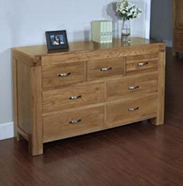 Plaza Rustic Oak Furniture 3 over 4 Chest of Drawers