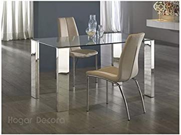Hogar Decora Malibu Dining Table in Steel