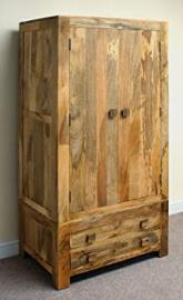 Mantis 2 Drawer 2 Door Wardrobe in Mango Wood
