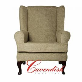 "LUXURY ORTHOPEDIC HIGH SEAT CHAIR in PALOMA KHAKI FABRIC 21"" or 19"" SEAT HEIGHT (19"" Seat Height)"