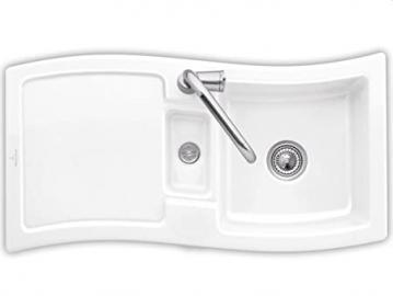 Villeroy & Boch NewWave 60 Ceramic Sink White Basin Kitchen Mat Snow White