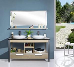 MODERN BATHROOM SET BATHROOM FURNITURE BASIN SINK TAP WITH PUSH UP MIRROR (922)