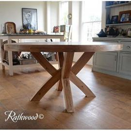 Kingston solid Oak 1.5M Round dining Table