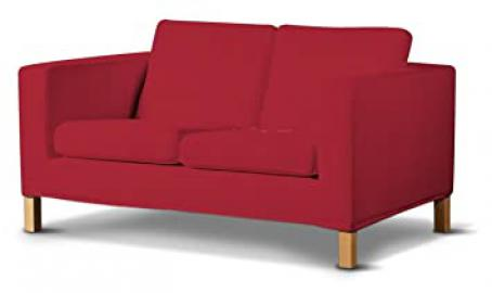 Dekoria Fire Retarding Ikea Karlanda 2-seater sofa cover - red chenille