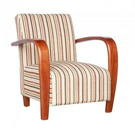 Shankar Restmore Stripe Antique Gold Fabric Armchair