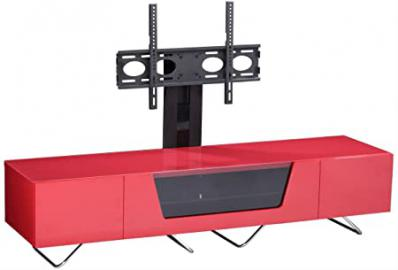 Alphason Chromium Red Cantilever TV Stand for up to 50 inch TVs