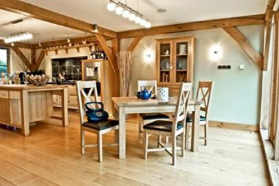 Somerset Oak Furniture dining furniture small extending table