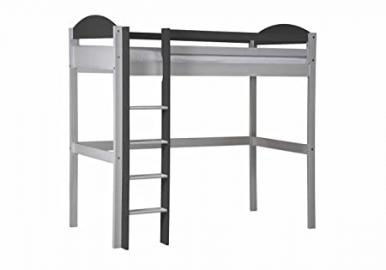 Design Vicenza Maximus High Sleeper Long White With Graphite Details