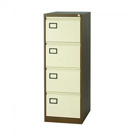 Bisley Coffee Cream 4 Drawer Contract Filing Cabinet,Bisley