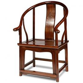 Horseshoe Armchair, Warm Elm
