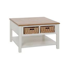 Protege Homeware Cream 4 Rattan Baskets Dorset Coffee Table