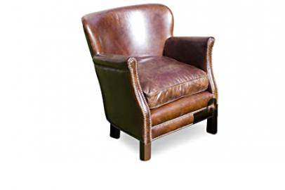 Turner leather retro armchair