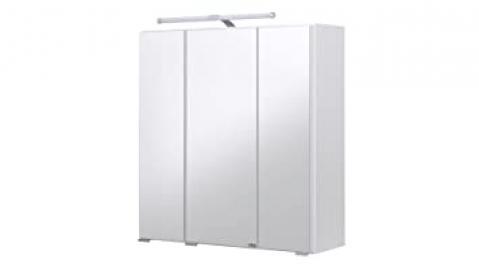 Capri Mirrored Cupboard White