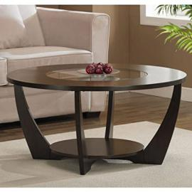 Archer Espresso Coffee Table with Shelf