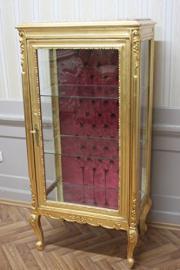 baroque vitrina glass cabinet louis pre victorian rococo AlVi0807GoRdIBg