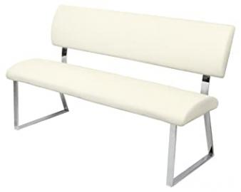 Triple Diner Bench in Ivory and Black colour (Ivory)