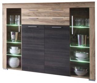 Furnline Boom Walnut Satin and Dark Brown Touchwood Living Room Cabinet