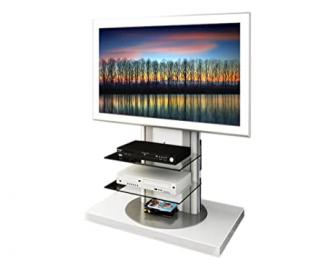 Triskom R1 TV Stand for LCD, LED or Plasma Screens 32,37,40,42,46,47,50,52 inch by SAMSUNG, SONY, PHILIPS, TOSHIBA, PANASONIC, LG, JVC (White Gloss)