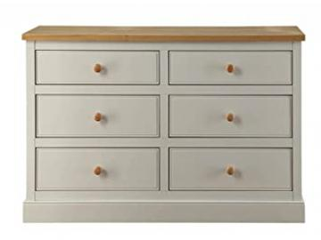 LPD St Ives 6 Drawer Wide Chest