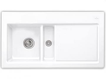 Villeroy & Boch Subway 50 Pure White Ceramic Kitchen Sink Basin Installation Snow White