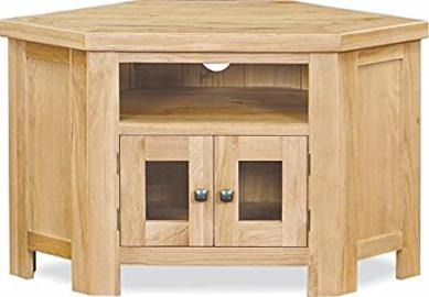 Global Home Products Collection 21 Corner TV Unit, Wood, Brown