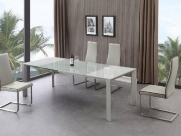 "Dining Table Extendible Marino ""Glass White"