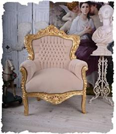 BAROQUE ARMCHAIR VINTAGE WINGCHAIR GOLD ROYAL CHAIR PALAZZO EXCLUSIVE