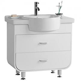 Premier Housewares Ocean Basin & Under Sink Cabinet In White FREE DELIVERY