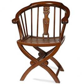 Cross Legged Armchair, Warm Elm