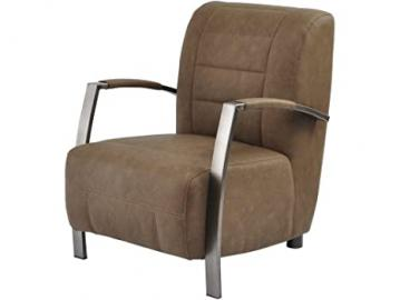 Oldfield Brown Faux Leather Occasional Chair