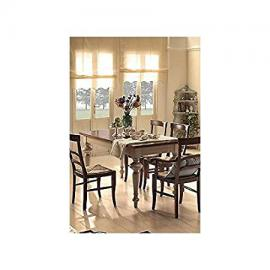 L 160extending table Country Kitchen Provencal bicolore- Solid Wood–-as photos white and Ivory