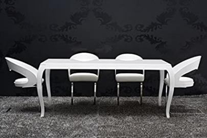 > Gothic < white dining table 180cm