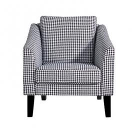 Leader Lifestyle Palin Armchair in A Classic Black and White Bird Escher fabric, Wood
