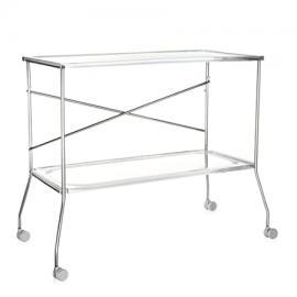 Flip Tea-Cart transparent/plastic/frame metal