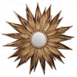 Belle Maison Gold Sunflower Mirror