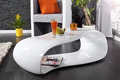 Scream White Fiber Glass Coffee Table
