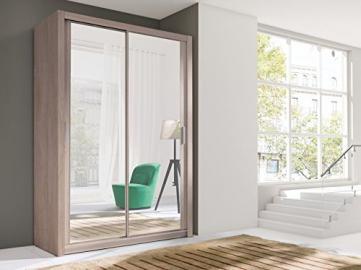 Brand New Modern Bedroom Wardrobe 2 Sliding Door VIGO 150cm in Sonoma with mirror sold by Arthauss