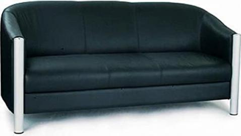 Italian Leather 3 Seater Tub Sofa