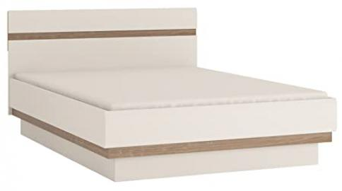 Furniture To Go Chelsea Wide Double Bed Frame, 146 x 88 x 206 cm, White Gloss
