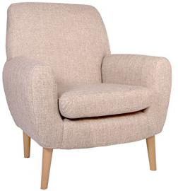 """Pisa Retro Style Orthopaedic Chair in Beige. Matching Sofa also available see separate listing. (17"""" Seat Height Pisa chair)"""