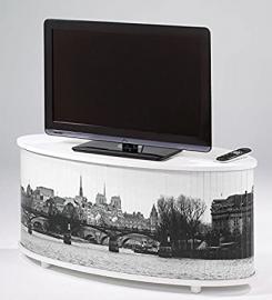 TV Stand White–Paris–Quai de Seine