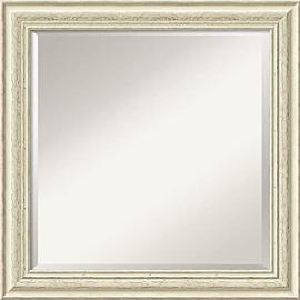 "Amanti Art Country Whitewash Square Wall Mirror, 24"" x 24"" by Amanti Art"