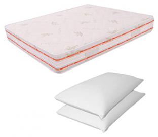 Detachable Double Memory Foam Mattress 6cm 180x 190High 25cm Memory Foam Two Pillows High 13cm Relax Ortopedico
