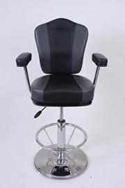 Barstool black/grey Faux leather Premium