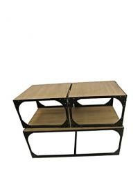 Set 3 metal coffee tables