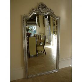Very Large Decorative Mirror Silver Hand Carved W: 106cm H: 200cm Free Delivery UK Mainland