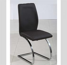 Sararreda - Set Of 4 Faux Leather Upholstered Chair - Black - Kitchen Living Room Office
