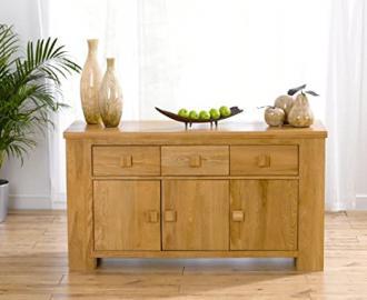 Dorset Solid Oak 3 drawer 3 door sideboard