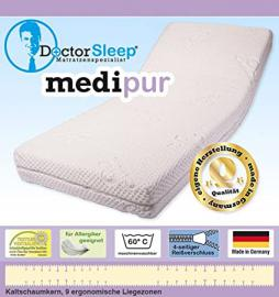 9 – 140X200X18 CM Zone Cold Foam Mattress Degree of Hardness H2 (', Cover Medipur