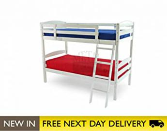 Metal Beds Ltd 3ft Bunk Bed White Wooden - Moderna bunk
